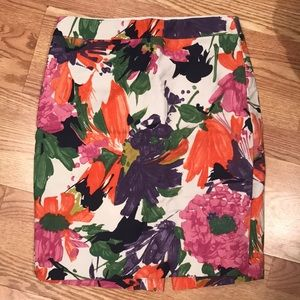 J.Crew No.2 Pencil Skirt 4 Garden Flower Floral